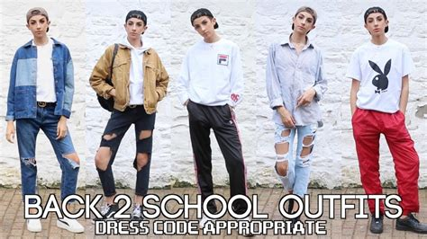 5 Back To School Outfit Ideas 2017 (dress Code Appropriate