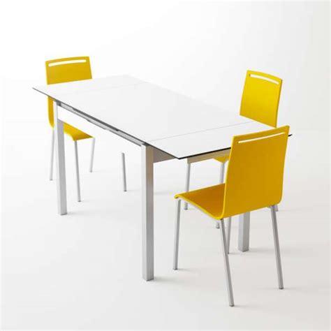 table de cuisine modulable table de cuisine en mélaminé blanc extensible avec