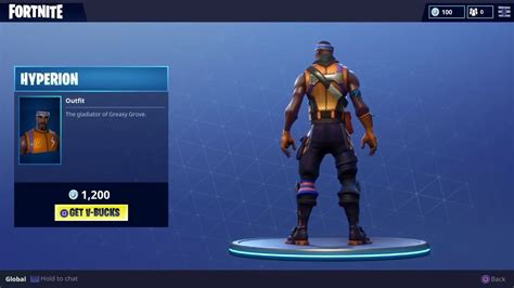 hyperion outfit fortnite hyperion character skin youtube