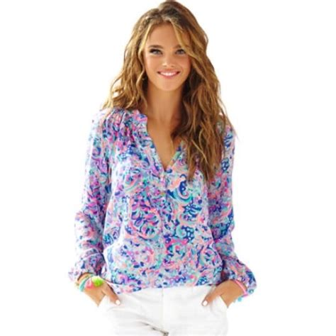 lilly pulitzer blouse 62 lilly pulitzer tops lilly pulitzer elsa blouse