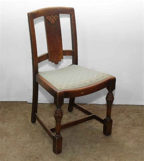 set   depression era wooden chairs olde good