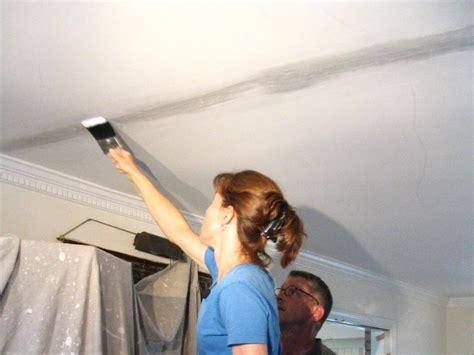 Hairline Cracks In Plasterboard Ceiling by How To Cover A Ceiling How Tos Diy