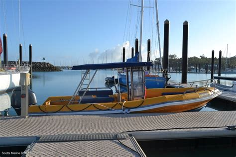Boat Us Insurance Survey by Used Custom Survey Rib Grp Hull With Alloy Pontoons For