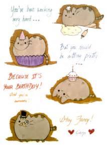 pusheen cat birthday pusheen birthday card pericynthion
