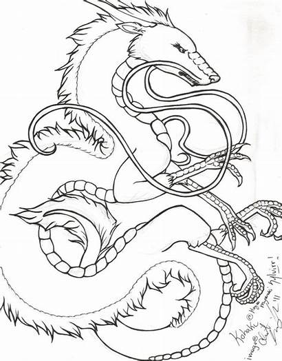Kohaku Lineart Spirited Away Deviantart Dragon Coloring