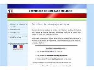 Certification De Non Gage : certificat de non gage en ligne ~ Maxctalentgroup.com Avis de Voitures