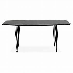 Table Bois Metal Avec Rallonge : table manger design avec rallonges loana en bois et m tal 100x170 270x73 cm noir ~ Melissatoandfro.com Idées de Décoration
