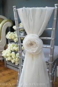 wedding chair sashes wedding 7 quot fabric flower cloud wedding chair decor sash bridal flowers sweetheart table