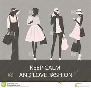 Fashion Woman Silhouettes Vector Illustration ...