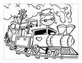 Train Coloring Cars Printable sketch template