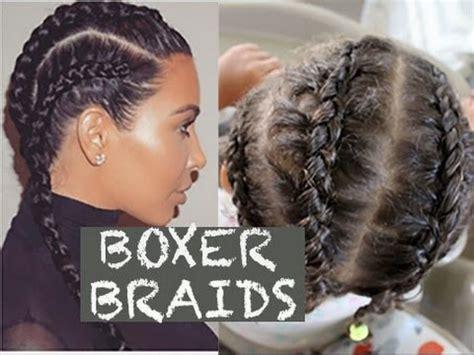 Natte Sur Le Coté Comment R 233 Aliser Des Nattes Coll 233 Es Ou Boxer Braids Sur Cheveux Fris 233 S