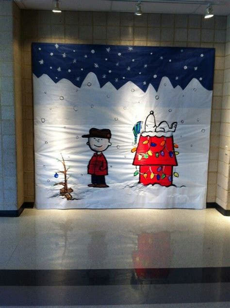 charlie brown christmas  bulletin boards pinterest