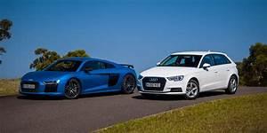 Audi R8 V10 Plus v Audi A3 1.0 TFSI comparison - Photos (1 ...