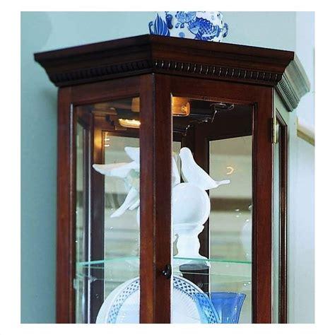 pulaski curios display cabinet in rich brown 20855