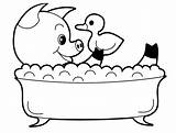 Pig Coloring Pages Animal Bath Take Bathing Playing Doll sketch template