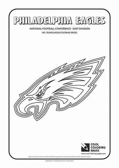 Coloring Eagles Nfl Pages Football Philadelphia Logos