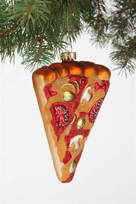 iconic italian food ornaments pizza christmas ornament