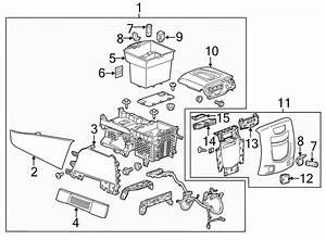 Cadillac Escalade Esv Console   Front  Lower