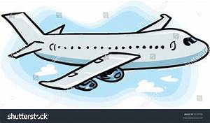 Vector Passenger Airplane Flying Through Sky Stock Vector ...