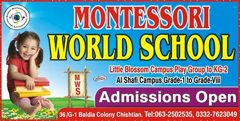 flex design montessori world school madani graphics