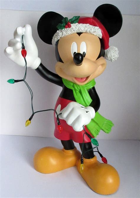 disney christmas  mickey mouse hanging lights statue