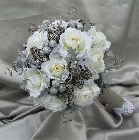 large luxury winter wonderland bridal bouquet