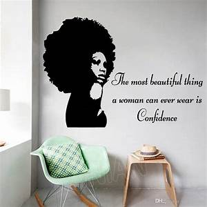 Tribal African Woman Girl Silhouette Wall Stickers Home