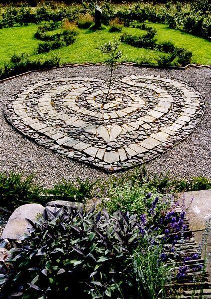 labyrinth combination  flat  stones