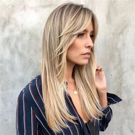 long layered haircuts  bangs long layered hair