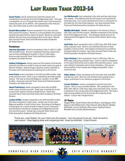 sports banquet program simplebookletcom