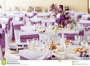 Wedding Table Decoration With Flowers Stock Image - Image