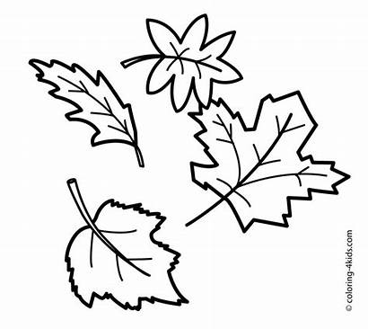 Coloring Leaves Autumn Pages
