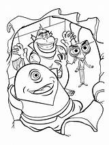 Dibujos Mostri Monstruo Colorkid Aterrador sketch template
