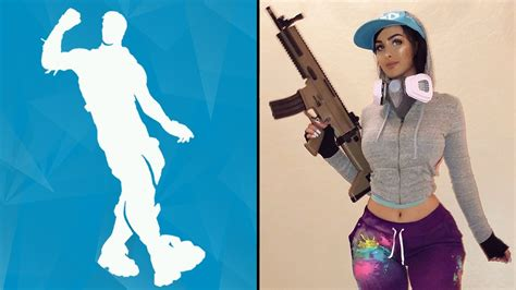 Sniperwolf Attempts The Fortnite 'emote' Dances In Real