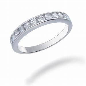 25 Tcw Women39s Diamond Wedding Band Set In 14k White Gold