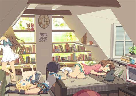 Anime Bedroom Wallpaper - wallpaper anime tako ashin book bedroom desktop