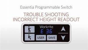 Workrite Ergonomics Essentia Programmable Controls User