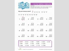 Math Riddles Addition and Subtraction Worksheets, Math