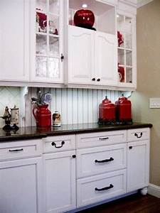 red kitchen accents on pinterest red kitchen decor red With kitchen colors with white cabinets with black white and red wall art