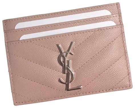 saint laurent pale pink  ysl card holder wallet tradesy