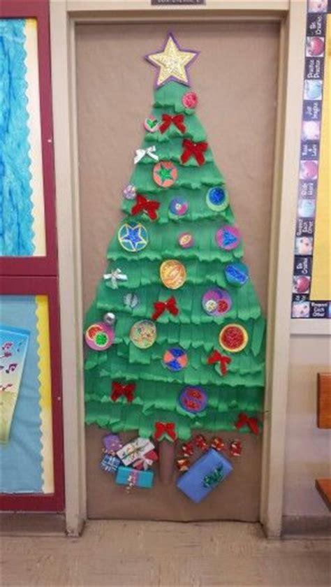 christmas decorations for school tree school door decoration trees school door
