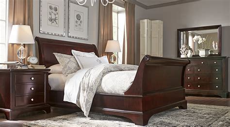 bedroom furniture sets solid wood bedroom makeover ideas whitmore cherry 6 pc king sleigh bedroom king bedroom