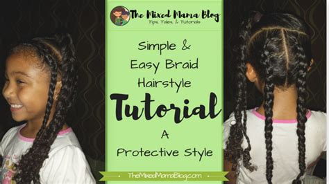 Easy Hairstyles For Mixed by Simple Easy Braid Hairstyle Mixed Family