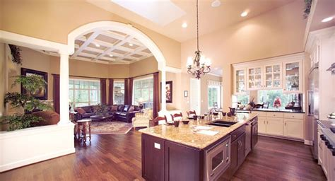 one house plans with large kitchens create a spacious home with an open floor plan