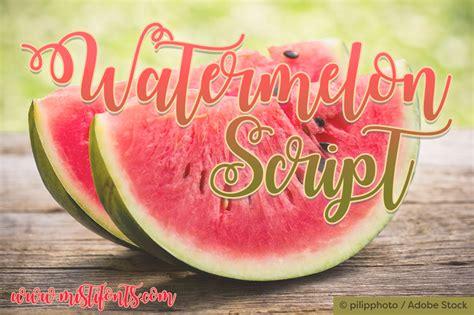 watermelon script font dafontcom