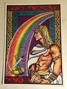 Heimdall and Bifrost Poster - Honor the Roots