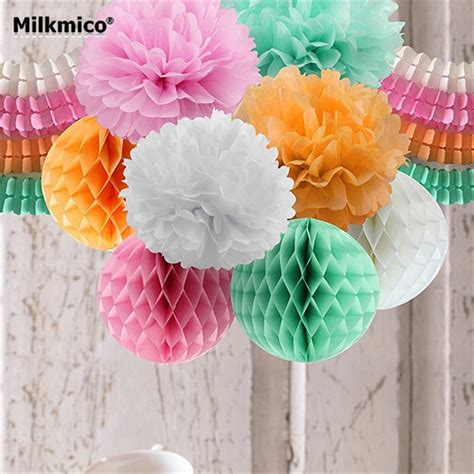 diy party decoration set string garlands bouquet honeycomb