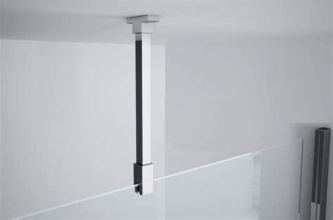 barre support cuisine kit de fixation plafond pour paroi de verre 6 et 8 mm novellini