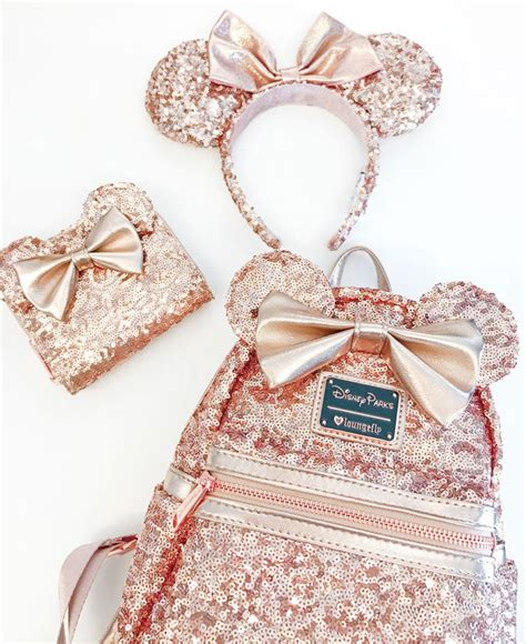flashy youth backpacks rose gold sequin