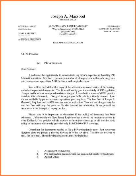 long   demand letter  settlement